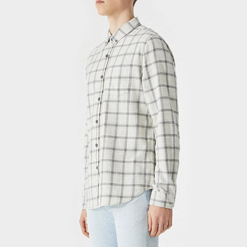 AG The Grady Shirt in Moon Glade/Heather Grey