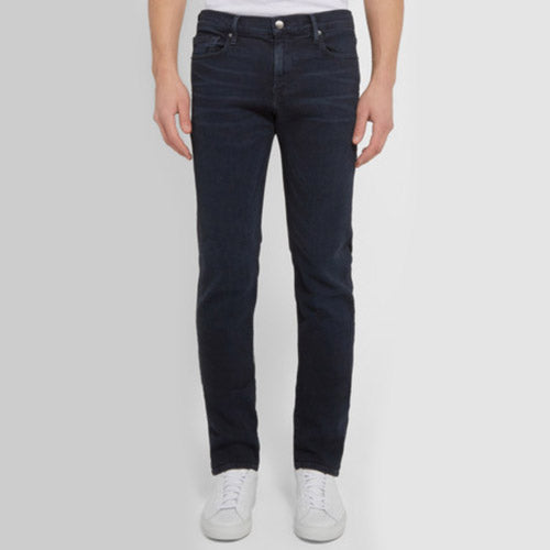 FRAME L'Homme Slim-Fit Dry Denim Jeans in Indigo