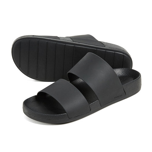 Vince Mariner Slide Sandals in Black