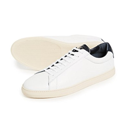Zespa ZSP4 Leather Sneakers in White/Navy
