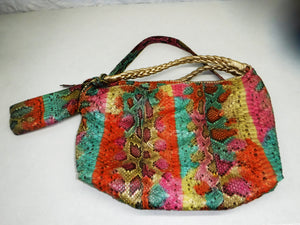 Snakeskin handbag with matching tote