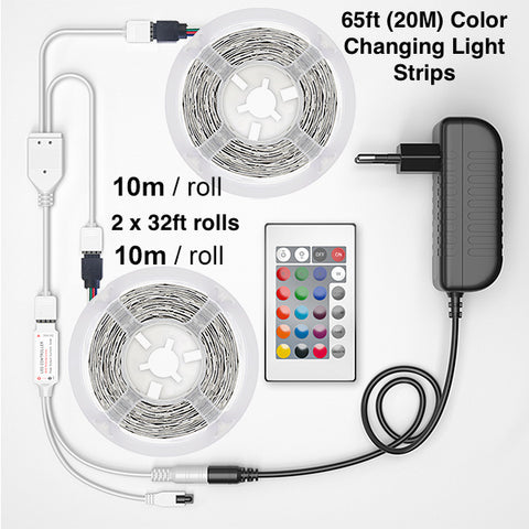 65 ft color changing light strips