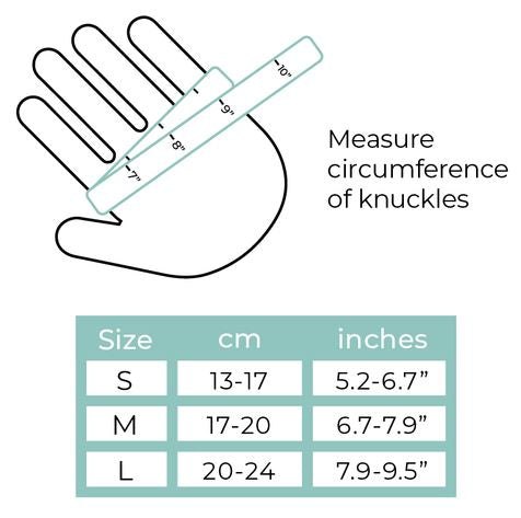 arthritis gloves sizing