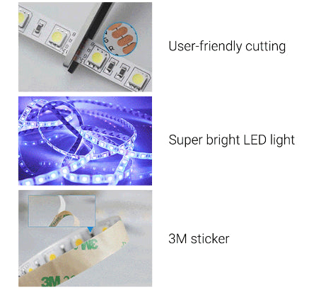 Led strip scissor