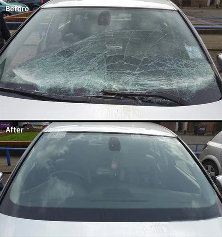 windshield repair before and after
