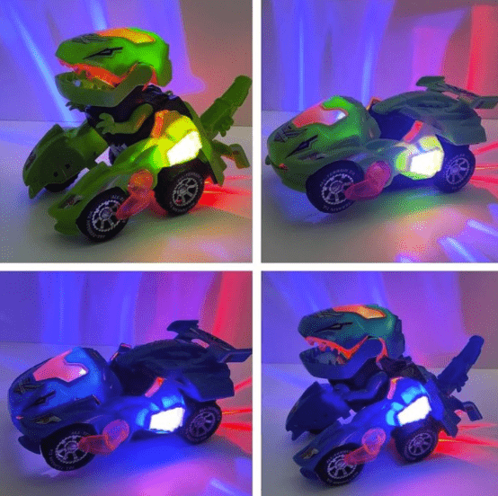 Transforming Dinosaur LED Toy Car