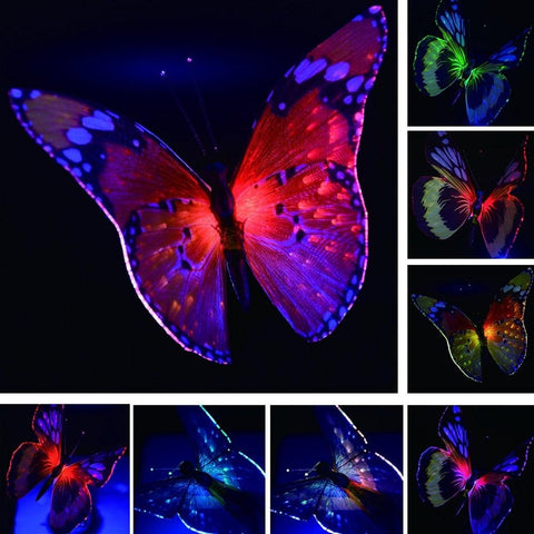solar powered butterfly lights
