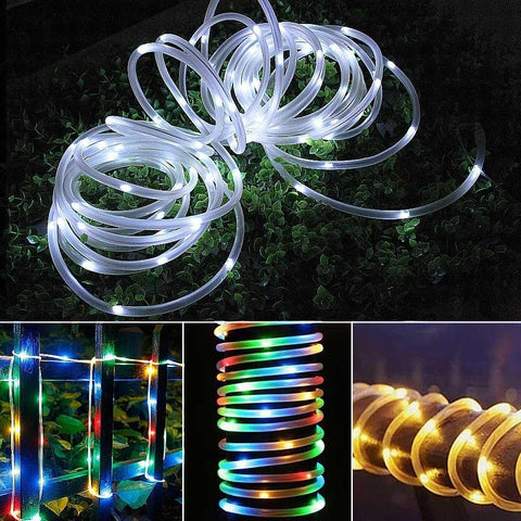 solar garden path rope lights
