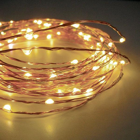 solar powered warm white fairy lights