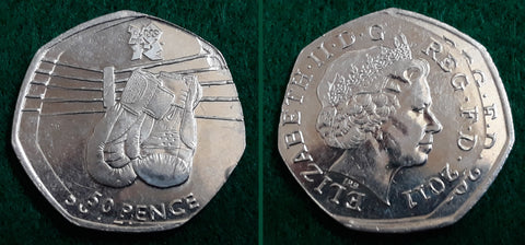 [A Rare Double-Stamped Olympic 50p - image by Mik]