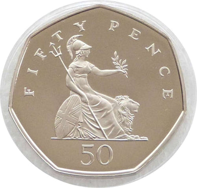 2008 - Britannia- 50p - Circulated - Stamped - TGBCH - COA