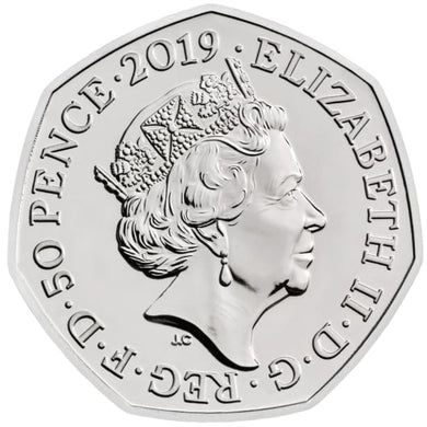 2019 - Shield - 50p - Circulated - Stamped - TGBCH - COA