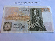 Load image into Gallery viewer, Rare £50 Banknote Kentfield Serial E11 467465 VGC Christopher Wren