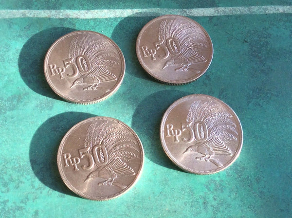 UNCIRCULATED Indonesia 50 Rupiah Coins Asia Asian