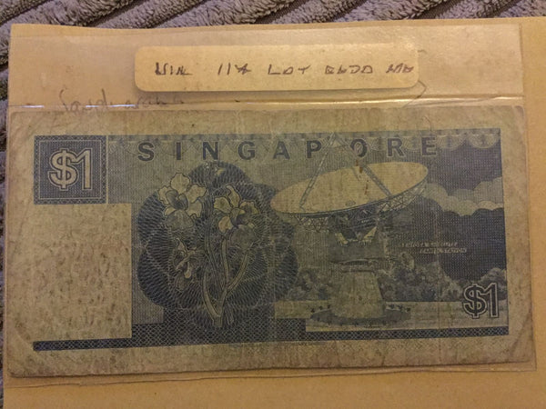 Singapore 1 Dollar Banknote 1987 D10 054192