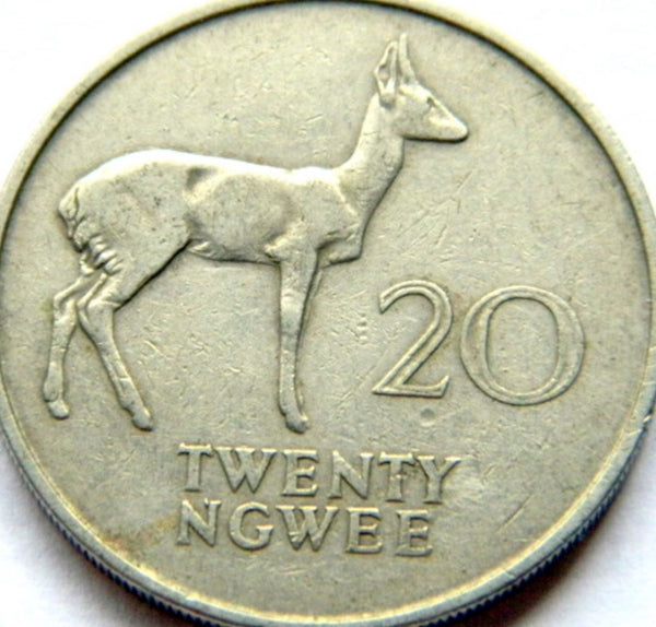 Zambia 20 (Twenty) NGWEE Coins Good Condition