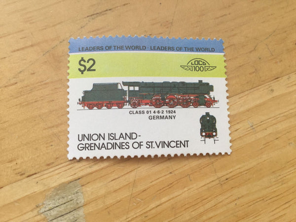 St.Vincent and the Grenadines MNH Stamps, Trains (2)