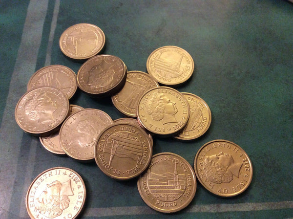Isle Of Man £1 Coins VGC