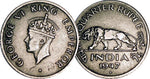 India 1/2 One Half Rupee Coins 1946 - Indian Asian