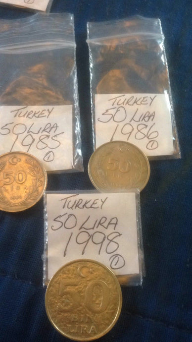 Turkish 50 Fifty Lira Coin Turkey Europe