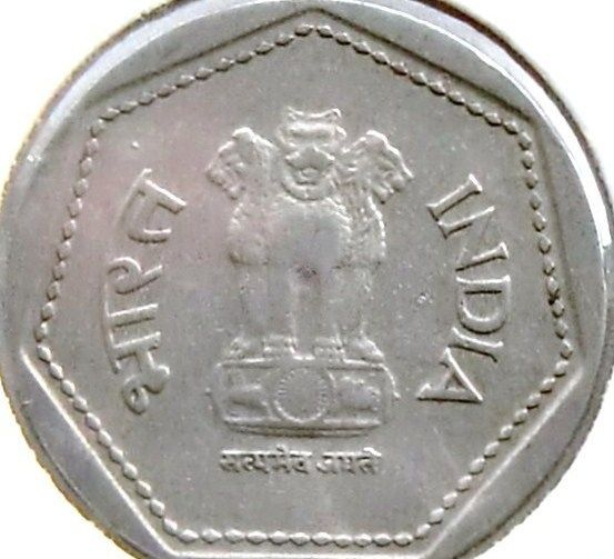India 2 Two Rupee Indian Asian Asia Rupees