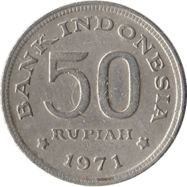 Indonesia 50 Rupiah Coins Asia Asian