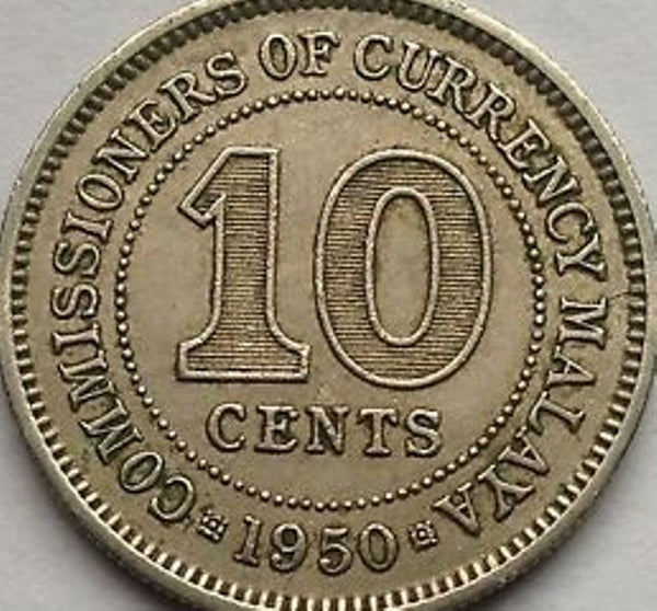 Malaya And British Borneo 10 Ten Cent Coins Asia
