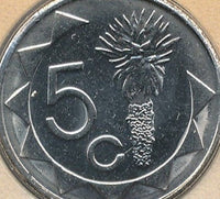 Namibia 5 Five Cent Coins South Africa Afrika African