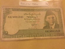Load image into Gallery viewer, Pakistan 10 Rupees Banknote Date 1983-84 serial Number KAZ4661049