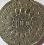 Sierra Leone 10 Cents Coins 1964 Good Condition