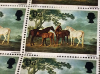 Mares and Foals in a Landscape George Stubbs 9d July10 1967 British Painters MNH