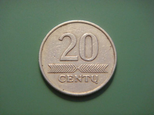 Lithuania 20 Centu Coins 1997 Europe