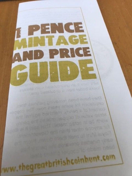 1p One Pence Mintage and Price Guide