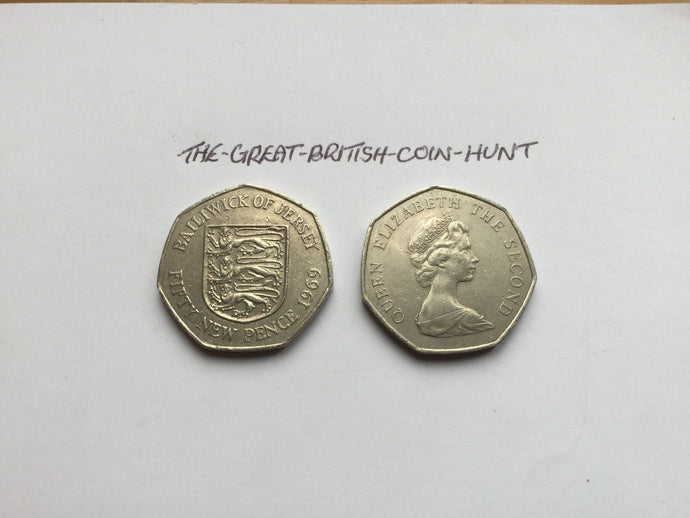 Jersey Channel Islands 50p Coins Circulated VGC