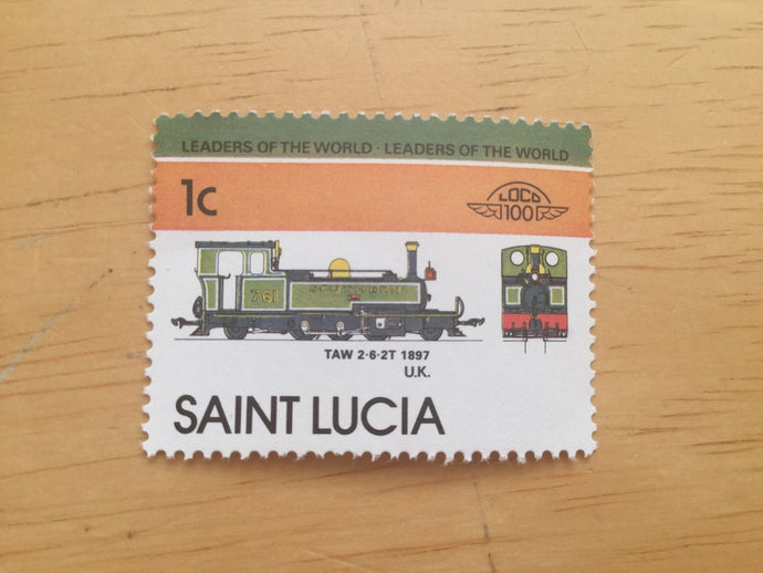 Saint Lucia Caribbean MNH Stamps Trains