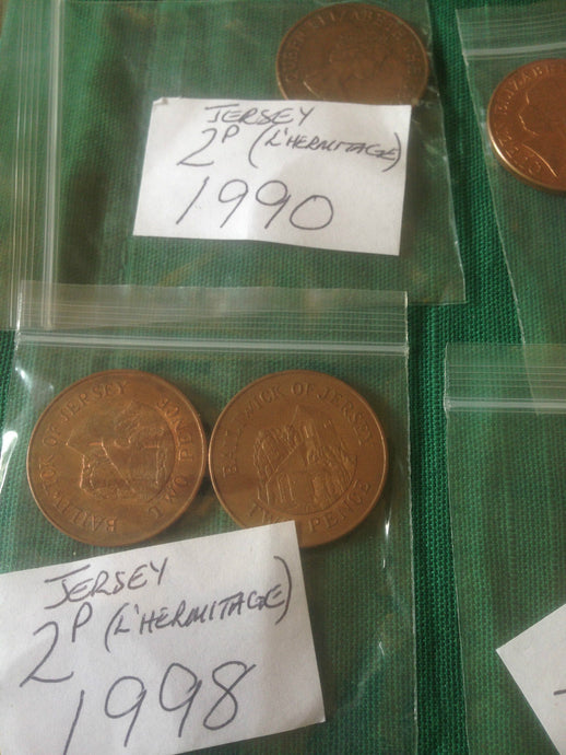 Jersey 2p Two Pence Channel Islands Coins Good Condition