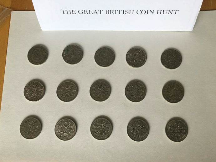 2 Shilling Florin Set English 1949 To 1967 Excluding Certain Years