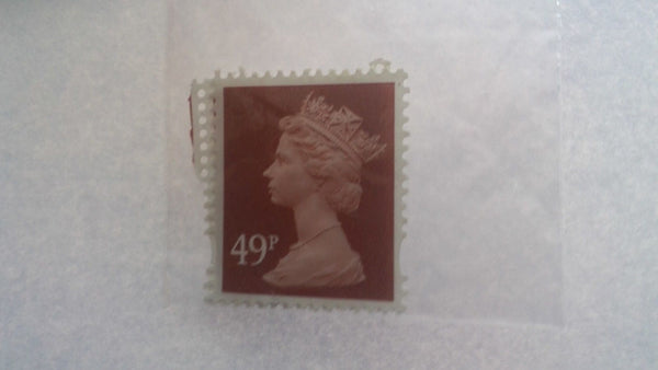 49p Unfranked Stamps