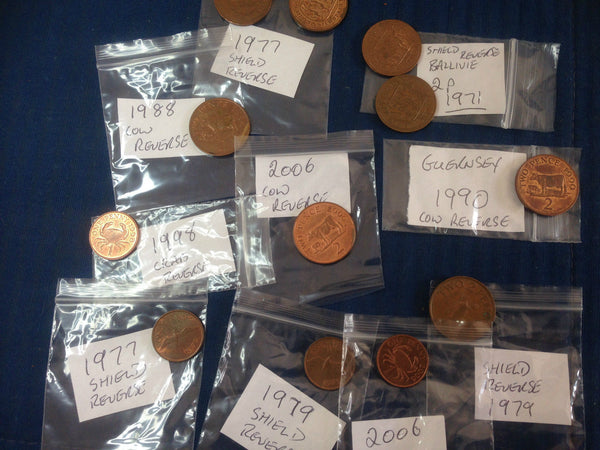 Guernsey Coins 1p One Penny Channel Islands