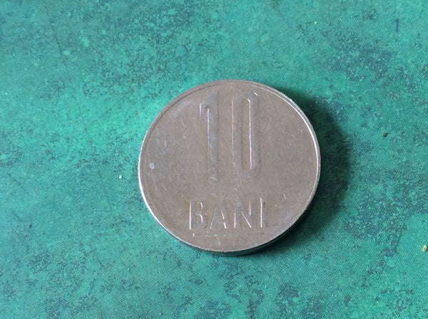 Romania 10 Bani Coins Europe