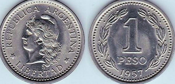 Argentina 1 One Peso Coins South America Currency