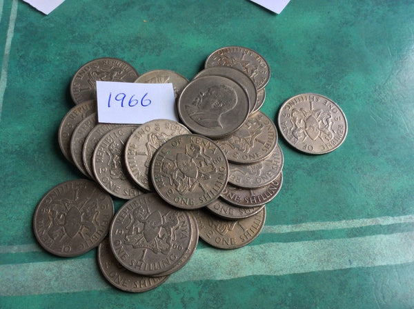 Good Condition Kenya 1 One Shilling Coins Africa Afrika Kenyan