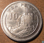 Gibraltar Coins 10 Ten Pence Channel Islands Coin Hunt