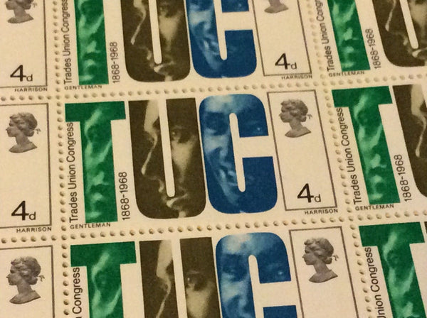 TUC and Trade Unionists 4d May 29 1968 British Anniversaries MNH
