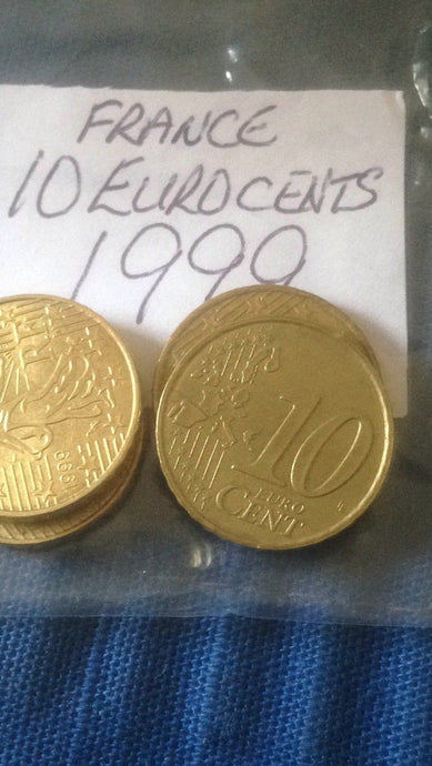 French Ten Euro Cent 10c Coins France European