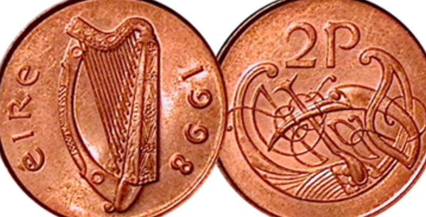 Southern Ireland 2p Two Pence Coins Eire Hibernia UNCIRCULATED VGC