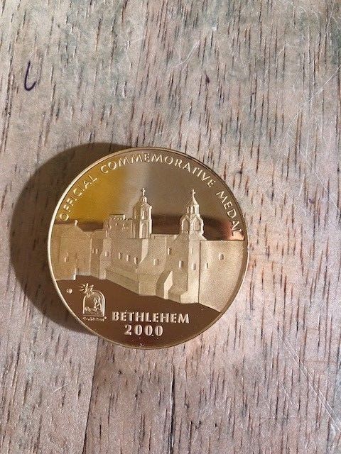 Minted Bethlehem Medal In 2000 To Commemorate Christ 2000 Years Ago