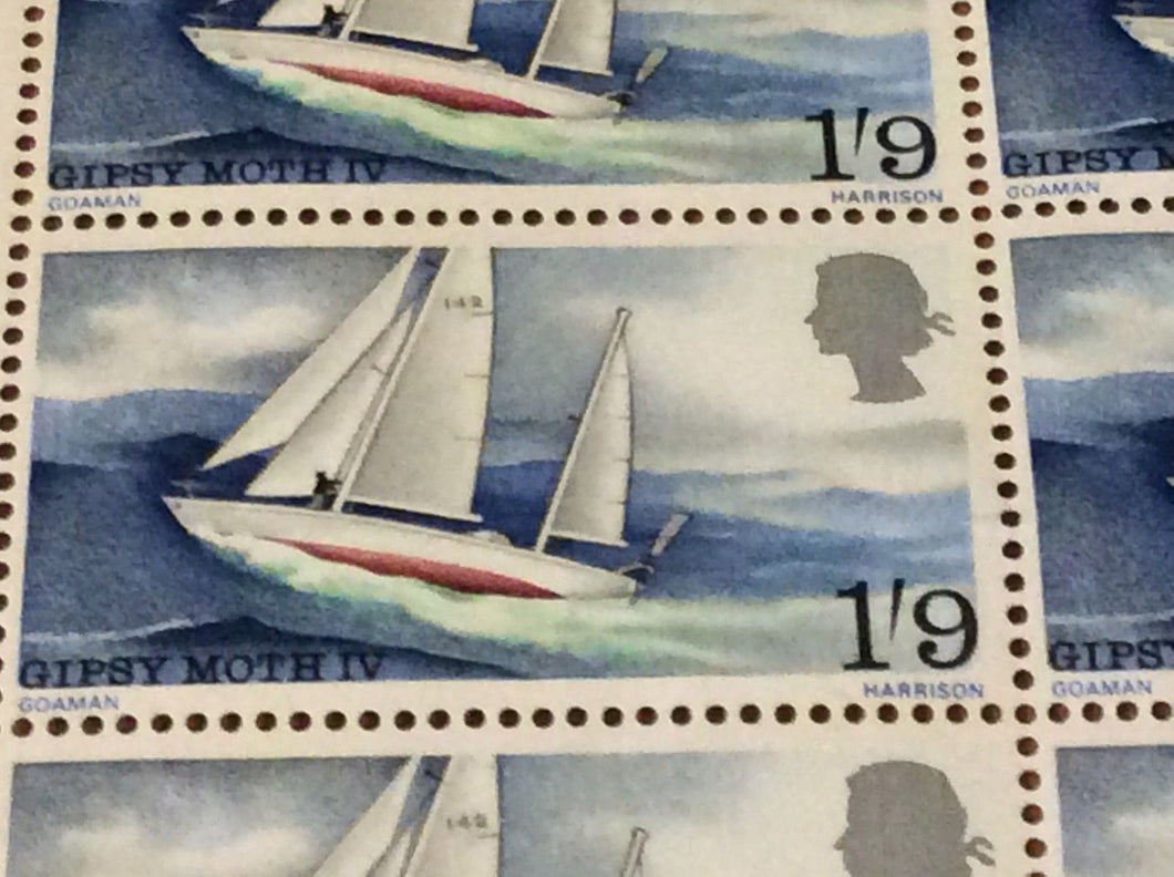 Gipsy Moth IV 1s 9d July 24 1967 Sir Francis Chichester's World Voyage MNH
