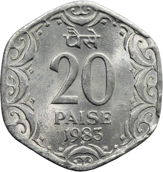 India 20 Paise Coins Indian Asian