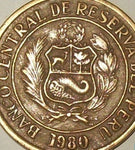 Peru 10 Ten Soles Coins South / Latin America